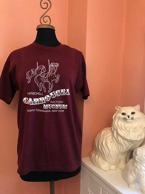 Vintage T-Shirt, Carousel Shirt, 80s Tshirt, Herschell Carousel Museum