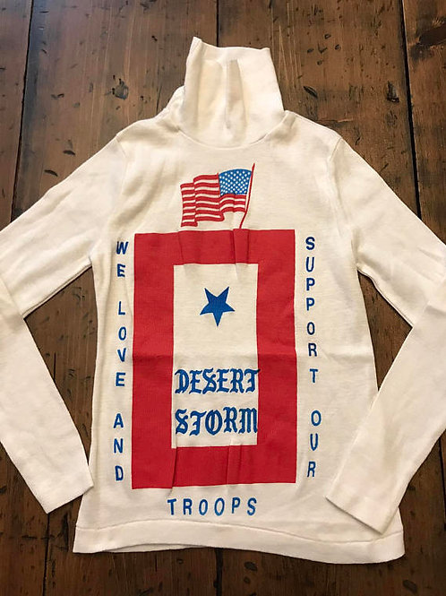 Vintage Desert Storm, Turtleneck, Patriotic, Patriots, Support Our Troops