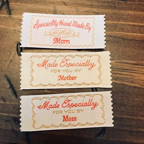 Vintage Clothing Labels, Specifically Handmade by Mom, Made by Mother