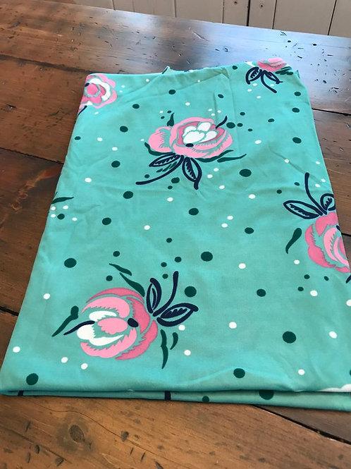 Vintage Stretch Fabric Remnant, 60s Lycra, Spandex, Floral Print, Dress Making