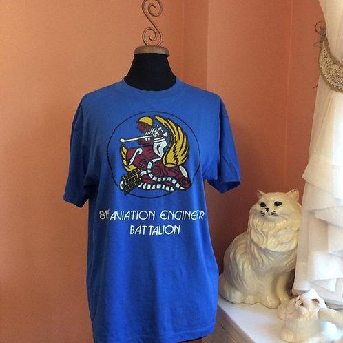 Vintage Tshirt, Rare US Military, 815th Aviation Engineer Battalion, Vietnam
