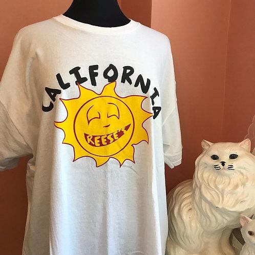 California TShirt, 2000s California Sunshine, Reese's Tshirt, Sun with Braces
