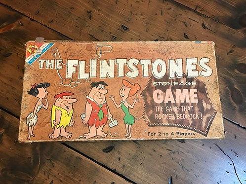 Vintage 1961, The Flintstones Board Game, Pebbles and Bam Bam,Fred, Wilma,Barney