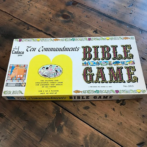Vintage Game, 1966 Board Game, Bible Game, Ten Commandments, Family