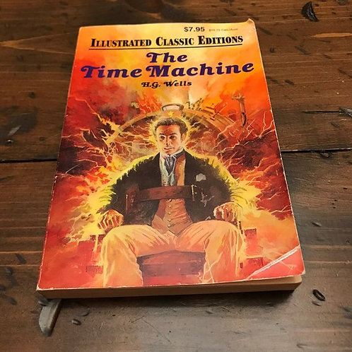 H.G. Wells The Time Machine, Illustrated Edition, 1983 Paperback, Science Fictio