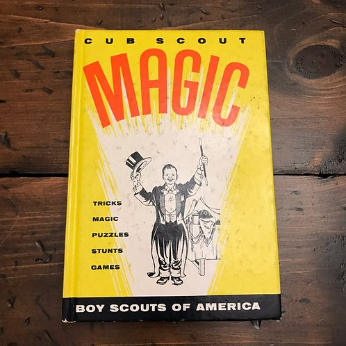 Vintage Magic Book, Cub Scout Magic, 1960s /1970s, Boy Scouts of America