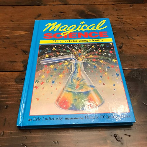 Vintage Magic Book, Magical Science, Experiments for Kids, Tricks, Puzzles