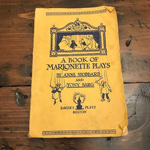 A Book of Marionette Plays, 1927, Puppet Theater, Grimm Fairy Tales