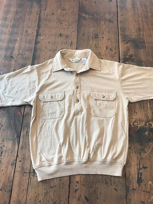 Vintage 60s Shirt, Golf Shirt, Polo, Haband Men's, Beige Polo, Leisure