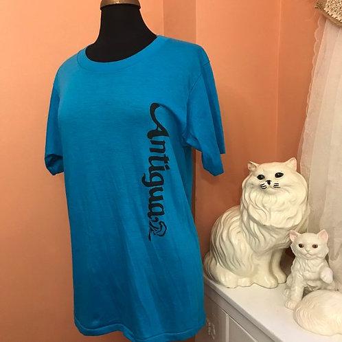 80s T-Shirt, Vintage Tshirt, Antigua Islands, Vacation, Tourist Souvenir