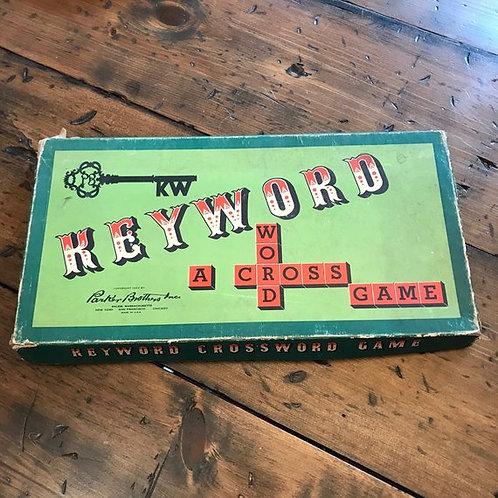 Vintage Game, 1953 Keyword Board Game, Game Night, Educational, Scrabble