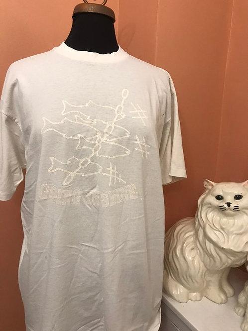 Vintage Tshirt, 90s T-Shirt, Going in Seine, Purse-Seine Fishing, Net Fish