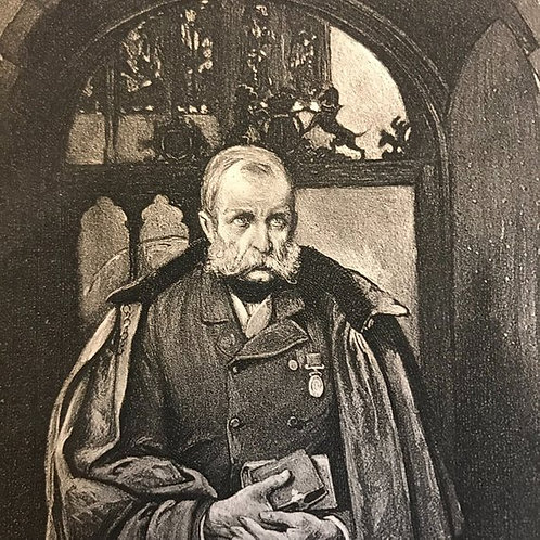 Antique Print, Lithograph, Thackeray's The Newcomes, Colonel Newcome