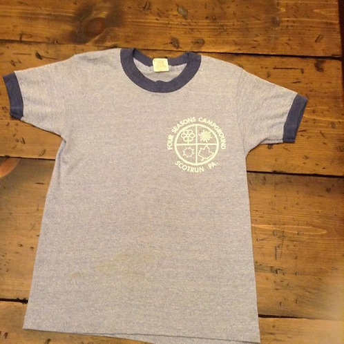 Vintage T-shirt, 1980s Four Seasons Camp Ringer T-Shirt Scotrun, PA