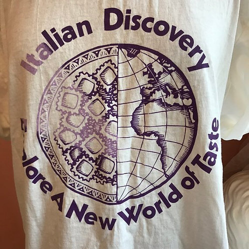 Vintage T-Shirt, 90s Tshirt, Olive Garden Restaurant, 1992 Italian Discovery