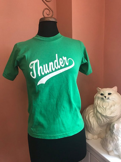Vintage Tshirt, Little League Thunder, 90s Baseball Tee, #5