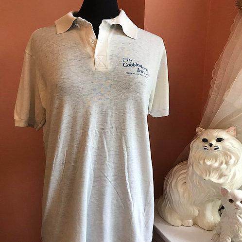 Vintage Polo, 80s Tshirt, Polo Shirt, The Cobblestone Inn, River Edge, NJ, Hotel