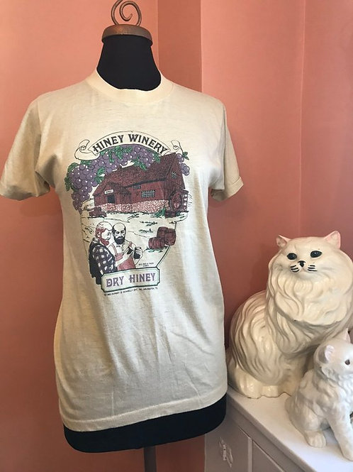 Vintage 80s, Vintage Tshirt, Hiney Winery, Bearded Men, Hipster Shirt