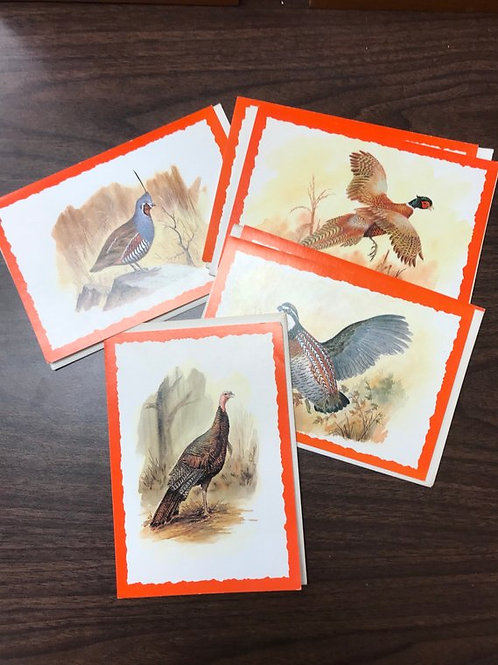 Vintage Greeting Cards, Backyard Birds, Fall and Thanks Giving
