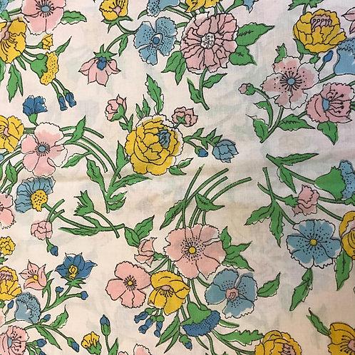 Pillowcase, Vintage Floral Pillowcase, White Floral Garden Bedding