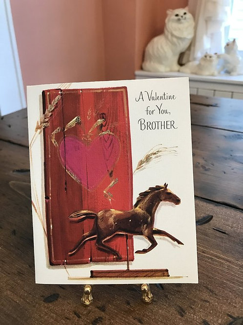 Greeting Cards, Vintage Card, Valentines Card, Valentine for Brother