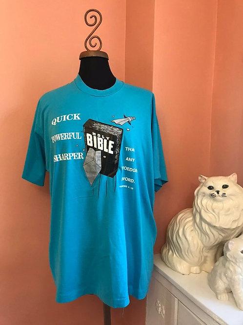 Vintage Tshirt, 90s Tshirt, Bible Tshirt, Christian, Judaism, Hebrews 4:12 Faith