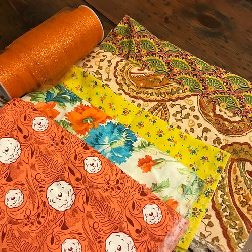 Fall Colors Lot, Craft Supply Leftovers, Harvest Theme, Thanksgiving Projects