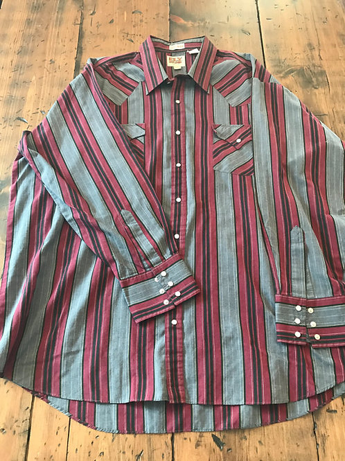 80s Western Shirt, Cowboy, Snap Button Down by Ely Cattleman