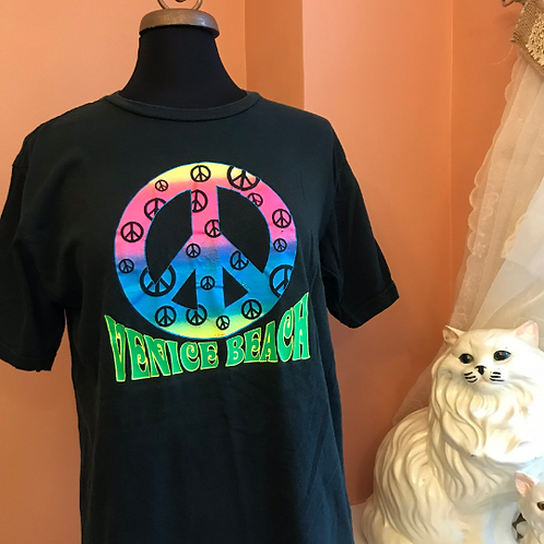 2000s Tshirt, Venice Beach, California, Hippie Peace Sign, Peace Symbol,Tourist