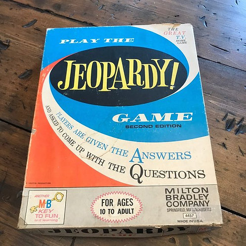 Vintage Game, 1964 Jeopardy Board Game, Game Night, Educational, Trivia Game