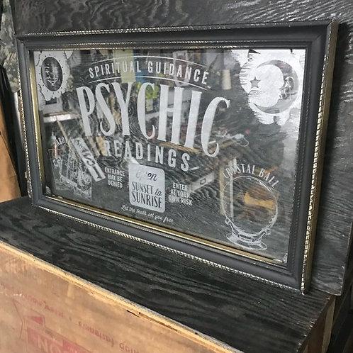 Psychic Readings Sign, Tarot Cards, Occult Decor, Halloween, Laser Engraved Art