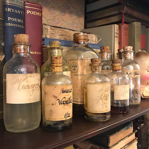 Antique Essential Oil Ingredients, Perfumer Stock, Vintage Specimen, Chemist