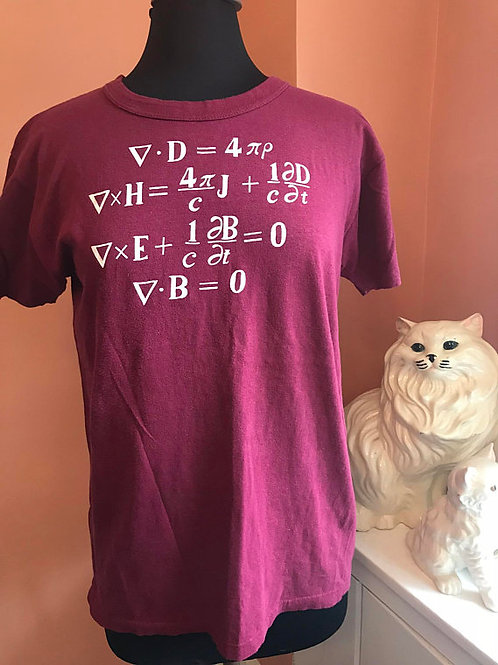Vintage Tshirt, 80s T-shirt, Math Shirt, Algebra, Calculus, Physics, Equation