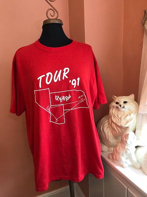 Vintage Tshirt, 90s T-Shirt, Soft Vintage, Tour Shirt, Go Big Red, The Den,Vegas