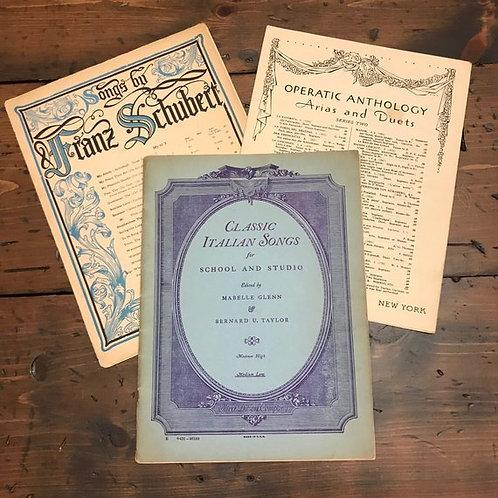 Antique Sheet Music, Franz Schubert, Shakespeare, Arias and Duets, Classical