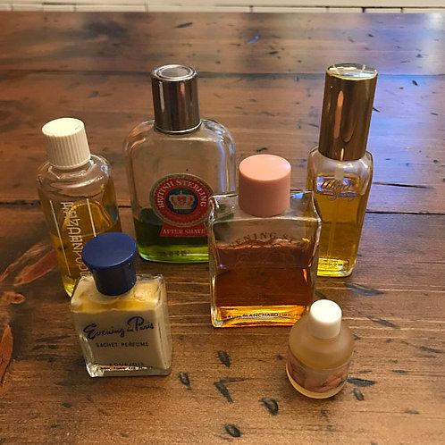 Vintage Perfume, Aftershave, Cologne, Vintage Fragrance Collection, Old Bottles