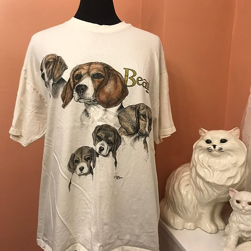 90s T-Shirt, Vintage Tshirt, Beagle Shirt, Puppy Life Cycle, Dogs, Terriers
