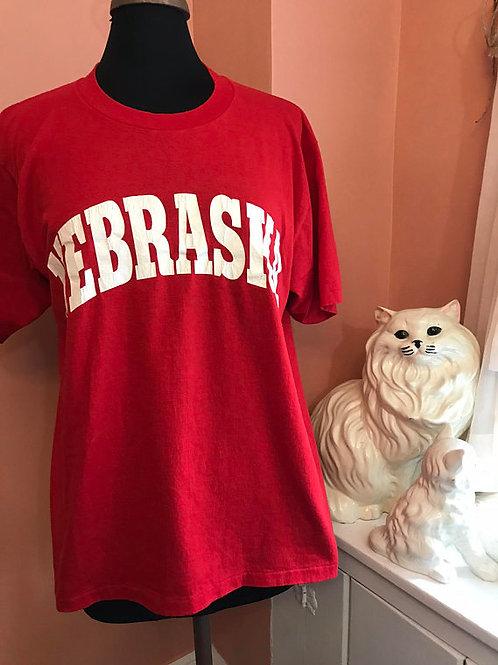 Vintage Tshirt, 80s T-Shirt, Soft Vintage, Nebraska Shirt, Souvenir Shirt