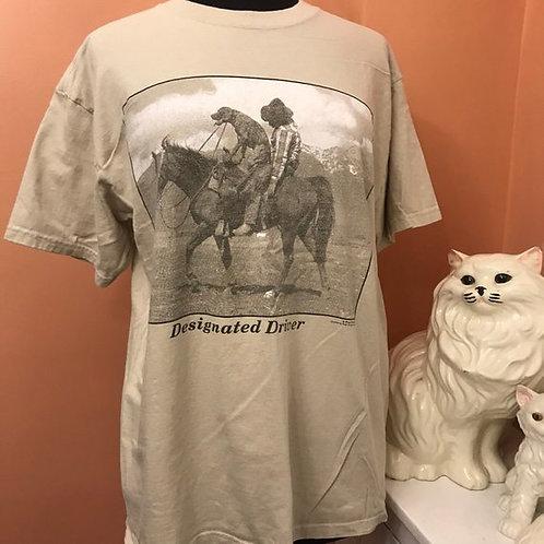 90s T-Shirt, Vintage Tshirt, Designated Driver, Paul Stanton, Drunk Cowboy