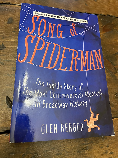 Book- Song of Spider-Man - Uncorrected Proof