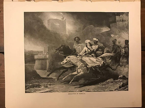 Antique Print, Lithograph, Ivanhoe, Walter Scott