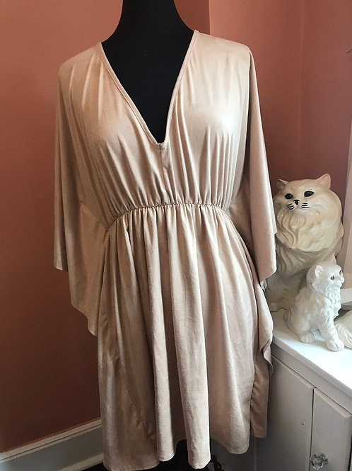 Forever 21 Sexy Dress, Taupe Suede Feel, New With Tags, Western Tunic Dress