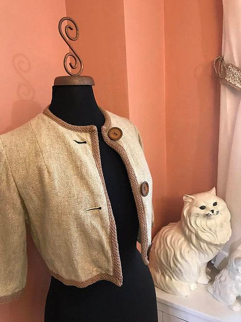 Vintage Jacket, Cropped Blazer, Mini Jacket, 60s Jacket, Cropped Wool Jacket