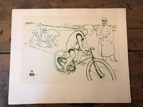 Vintage Print, 1951La Chaine,1890s Ad Bike Chain LB Spoke, Tour de France