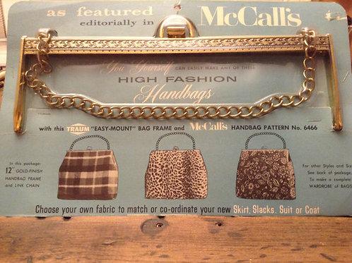 Fashion Handbag Clutch Frame Kit - Vintage High Fashion McCall's