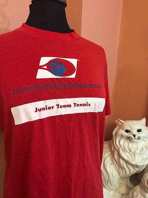 Vintage Tshirt, 80s T-Shirt, United States Tennis Association