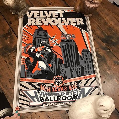Velvet Revolver Poster, Concert Poster, Rock Music, NYC, New Year's Eve