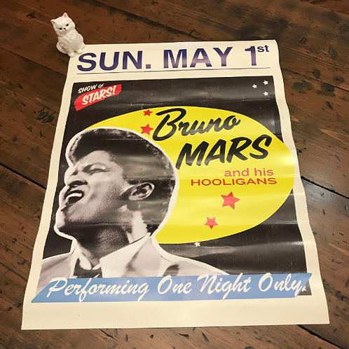Bruno Mars Poster, The Bamboozle Festival, Retro Style Bruno MarsPoster