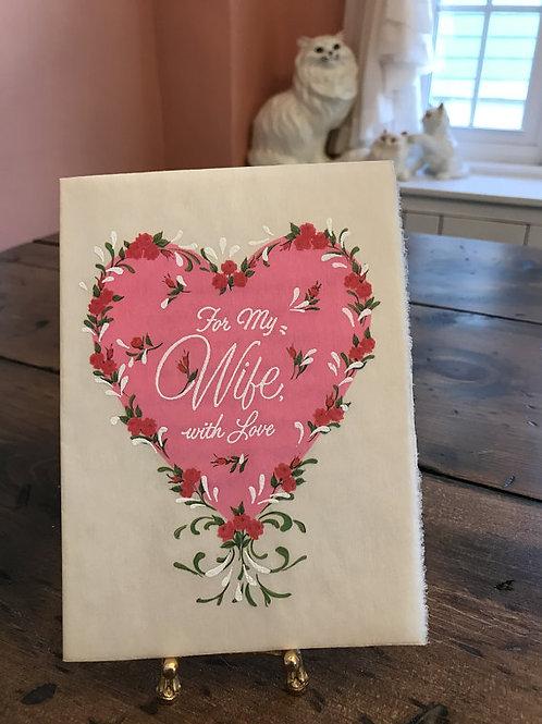 Vintage Card, Greeting Cards, Valentines Card, Mother