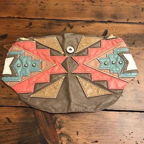 Faux Leather Patch, Southwest, Salvage Scrap, Tribal Decorative Embelishment
